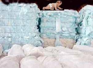 bales baled bale of Diapers